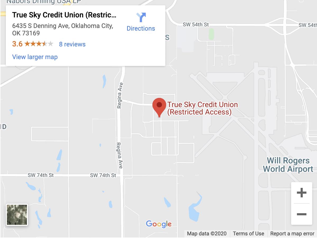 True Sky FAA location