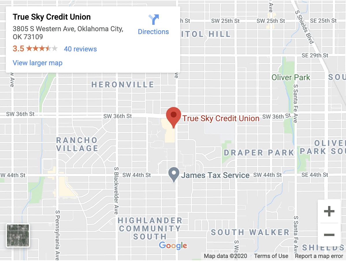True Sky Credit Union Western Ave location